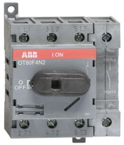 Выключатель ABB 1SCA105413R1001 OT80F4N2 разъединитель до 80А 4P на DIN-рейку или монтажную плату(с резерв.ручкой)