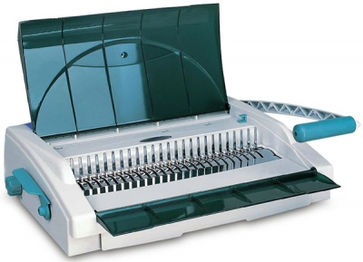 Брошюровщик Gladwork Business CB-25D на пластик. пружину, перф. 20-25л., сшивает до 500 л., 21 откл.пуансон