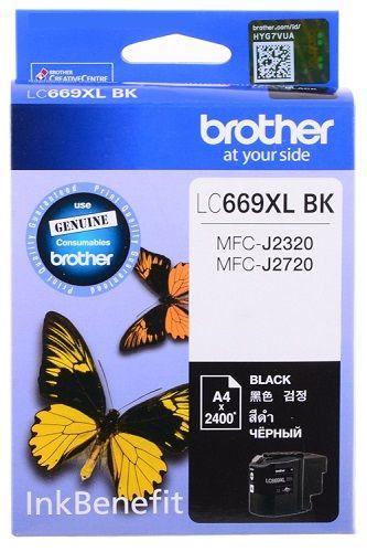 Картридж Brother LC-669XLBK для MFCJ2320/2720 чёрный (2400стр) картридж brother lc 563bk для mfcj2310 2510 3520 3720 чёрный 600стр