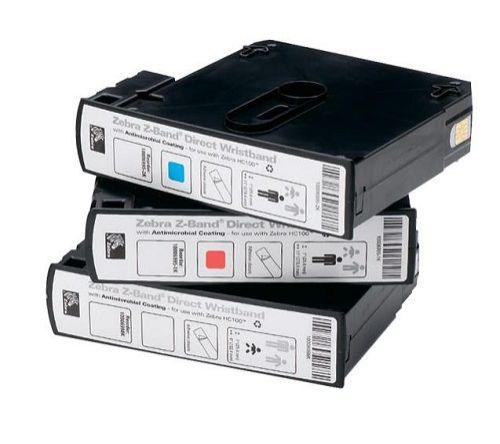 Картридж Zebra HC100 10006999-RK Wristband, Polypropylene, 1x7in (25.4x177.8mm), 300/roll, 6/box, Red