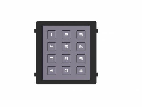 Модуль HIKVISION DS-KD-KP клавиатуры, 12 клавиш с антивандальным исполнением, модульный разъем 1+1, DC12В, 2Вт, IP65, IK7, металл