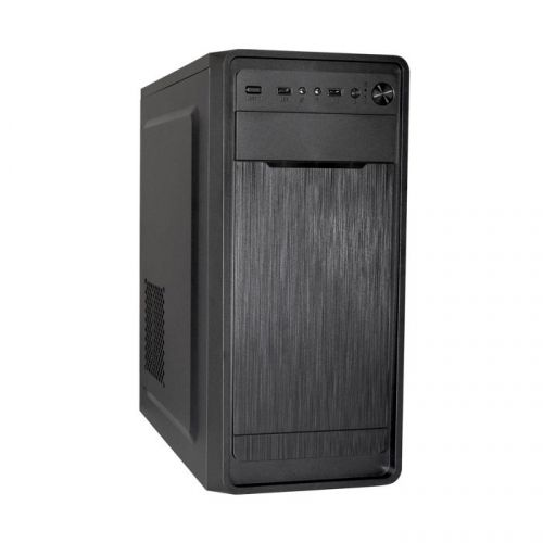 Корпус ATX Exegate XP-332-350W-12 EX283069RUS БПXP350свент.12см,2*USB,аудио,черный exegate ex285185rus корпус minitower exegate qa 515 350w 12 matx бп xp350 с вент 12см 2 usb аудио черный