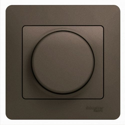 Светорегулятор Schneider Electric GSL000837 (диммер) LED, RC, 630Вт/ВА, в сборе шоколад