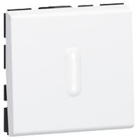 Выключатель Mosaic Legrand 77012 для управления освещением с двух мест 10АХ с подсветкой (2 модуля) белый