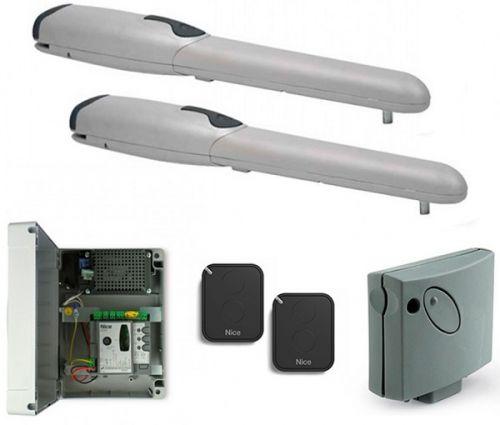 Комплект NICE WINGO2024KCE привод WG4024 - 2 шт, блок управления MC424L, приемник SMXI, пульт FLO2RE - 2 шт