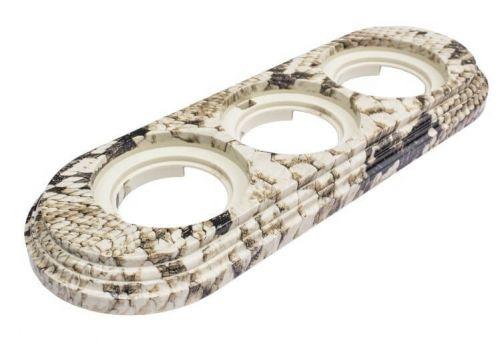 Рамка Bironi BF1-630-12/PL королевская кобра, 3-ая, пластик