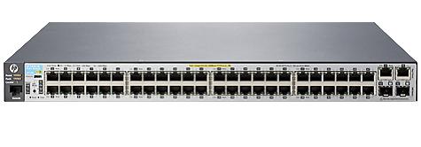 Коммутатор PoE HP J9778A 2530-48-PoE+ 48x10/100 + 2xSFP + 2x10/100/1000, Managed, L2, virtual stacking, POE+ 382W, 19