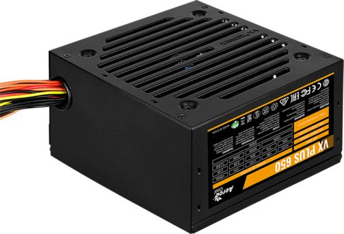 Фото - Блок питания ATX AeroCool VX PLUS 650 4713105962789 650W (20/24+4 SATA+3 PATA+6/2x8 pin, вентилятор d120мм) aerocool vp 650 650w