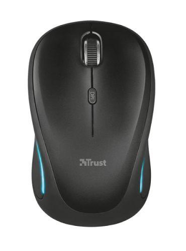 мышь trust varo wireless ergonomic mouse black usb Мышь Wireless Trust Yvi FX USB, 800-1600dpi, Illuminated, black