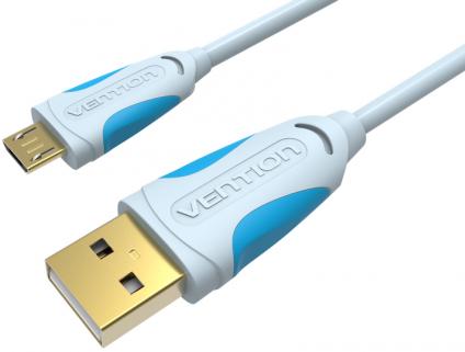 Кабель интерфейсный USB 2.0 Vention AM/microB 5P VAS-A04-S200 2 м кабель vention usb 2 0 am micro b 5pin 1 5м черный vas a04 b150