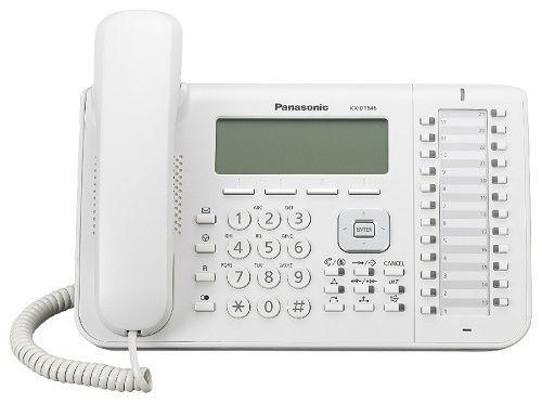Системный телефон Panasonic KX-DT546RU для KX-TDA/TDE/NCP (белый) panasonic kx dt346ru white цифровой системный телефон