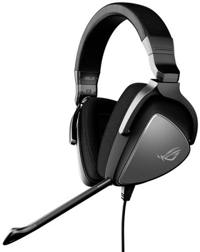 Гарнитура ASUS Delta Core 90YH00Z1-B1UA00 черная, 3.5 mm jack/PC/PlayStation 4/Xbox One/Nintendo Switch, 50 мм неодимовые магниты, 32 Ом, 20-40000 Гц,