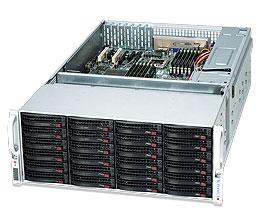 "Supermicro Корпус серверный 4U Supermicro CSE-847E26-R1400LPB (36x3.5"" HS w EXP, 13.68""x13"", E-ATX, 7xLP, 2x1400W Gold)"
