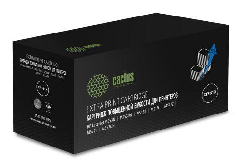 Картридж Cactus CS-CF361X-MPS лазерный голубой (18000стр.) для HP CLJ M552dn/M553dn/M553N/M553x
