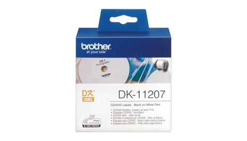 Наклейка Brother DK11207 Наклейки на CD/DVD Brother (100 шт круглые 58 х 58 мм)