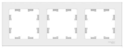 Рамка Schneider Electric ATN000103 AtlasDesign, 3-постовая, универсальная, белая