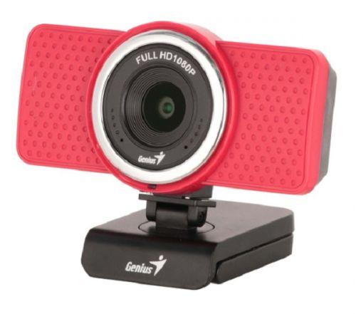 Веб-камера Genius ECam 8000 red, 1080p Full HD, вращается на 360°, универсальное крепление, микрофон, USB