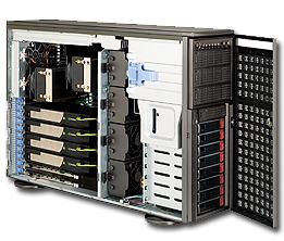 "Supermicro Корпус серверный 4U Supermicro CSE-747TQ-R1620B (8x3.5"" HS bays, 8xSAS/SATA port, 3x5.25"", 1x3.5"" ext, 15.2""x13.2"" E-ATX, 11xFH, 2x1620W Platinum)"