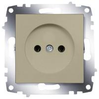 Розетка ABB 619-011400-217 Cosmo с заземлением, 16А, 250В, IP20 (титаниум)