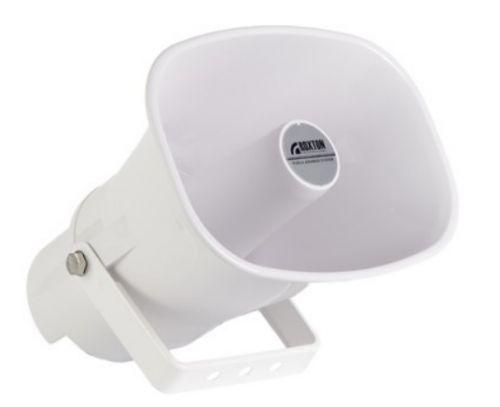 Громкоговоритель Roxton HP-15CPT рупорный 15/7,5 Вт, морозостойкий, -60~+40°C, 300…13000 Гц (белый)