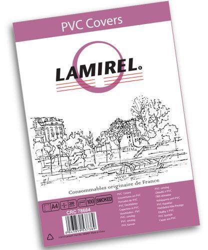 Обложка Fellowes LA-78684 Lamirel Transparent A4, PVC, дымчатые, 200мкм, 100шт