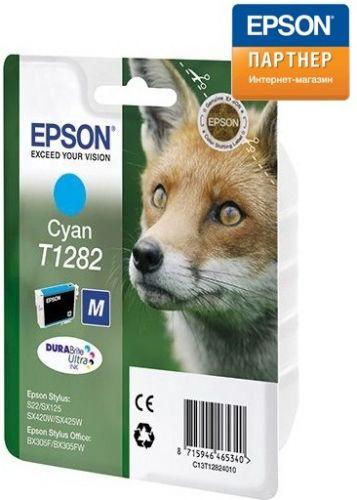 Картридж Epson C13T12824012 для принтера Stylus S22/МФУ SX420W/SX425W/SX125/SX430W голубой