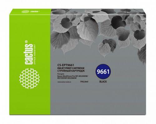 Фото - Картридж Cactus CS-EPT9661 черный (795мл) для Epson WorkForce Pro WF-M5299DW/M5799DWF принтер epson workforce pro wf 6090dw c11cd47301 a4