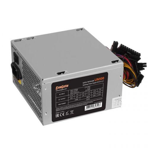 Фото - Блок питания ATX Exegate UN500 EX244555RUS-S 500W, SC,12cm fan, 24p+4p, 6/8p PCI-E, 3*SATA, 2*IDE, FDD + кабель 220V с защитой от выдергивания выключатель сенсорный с контактным проводом 220v 500w pm218ws 220v