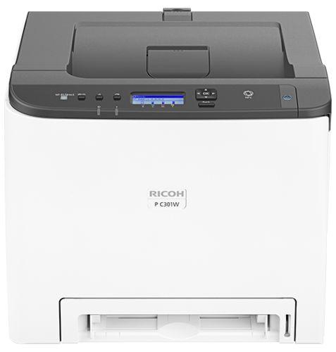 Принтер цветной лазерный Ricoh P C301W 408335 А4, с дуплексом, 25 стр/мин, 256 Мб, 65000 стр/мес, сетевой (+ WiFi, WiFi direct, NFC) PSL/PostScript