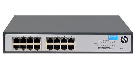 Коммутатор неуправляемый HP JH016A 1420-16G, 16x10/100/1000, 19
