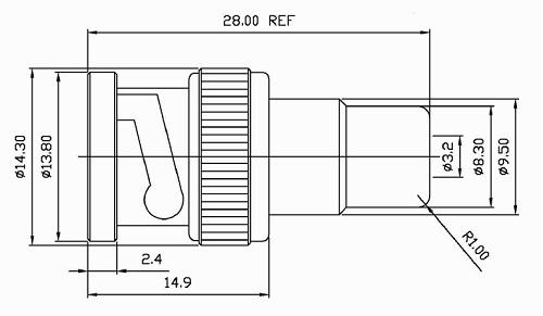 Hyperline AD-BNC-M-RCA-F