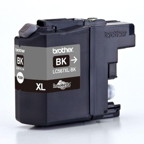 Картридж Brother LC-567XLBK для MFCJ2310/2510 чёрный (1200стр) картридж brother lc 563bk для mfcj2310 2510 3520 3720 чёрный 600стр
