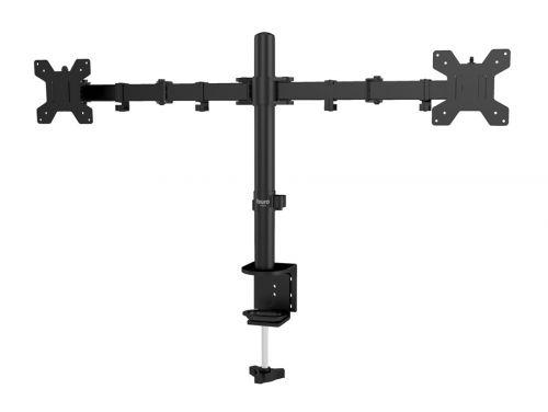 Фото - Кронштейн настольный Buro M052 Buro 1174924 для мониторов черный 15-32 макс.8кг крепление к столешнице поворот и наклон кронштейн для мониторов onkron d121e черный 10 32 макс 8кг настольный поворот и наклон