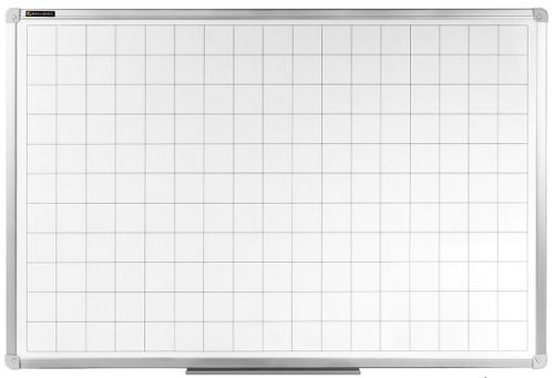 Фото - Доска BRAUBERG 236862 магнитно-маркерная в клетку 60х90 см, алюминиевая рамка доска магнитно маркерная brauberg стандарт 120x180 см алюминиевая рамка 235525