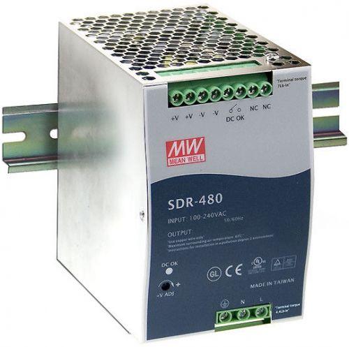 Преобразователь AC-DC сетевой Mean Well SDR-480-48 вых: 480 Вт; Выход: 48 В; U1: 48 В; Стабилизация: напряжение; Вход: 110/220В авто; Конструктив: на