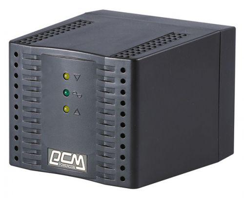 Стабилизатор Powercom TCA-2000-Black Tap-Change, 2000VA/1000W, чёрный