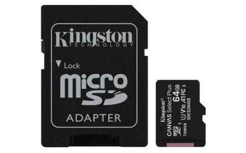 Фото - Карта памяти 64GB Kingston SDCS2/64GB MicroSDXC Class 10 UHS-I, SD adapter карта памяти samsung 64gb evo plus v2 microsdxc class 10 u1 sd adapter mb mc64ha
