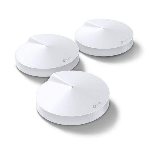 Точка доступа TP-LINK Deco M9 Plus(3-Pack) домашняя Mesh Wi-Fi система, AC2200, 867Мбит/с, 400Мбит/с, Bluetooth, 2 GLAN, USB Type-C, 8 антен