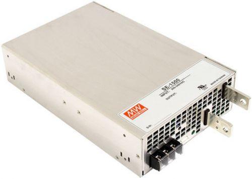 Преобразователь AC-DC сетевой Mean Well SE-1500-12 вых: 1.5 кВт; Выход: 12 В; U1: 12 В; Стабилизация: напряжение; Вход: 220В; Конструктив: в кожухе.