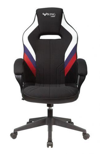 Кресло Бюрократ VIKING 3 AERO белое/синее/красное/черное, искусст.кожа/ткань