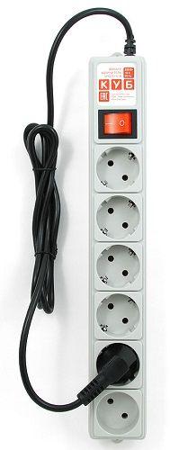 �������������������� ���������� 1 5 ���������������� Сетевой фильтр Power Cube B 5 м, 5+1 розеток, серый SPG(5+1)-B-15