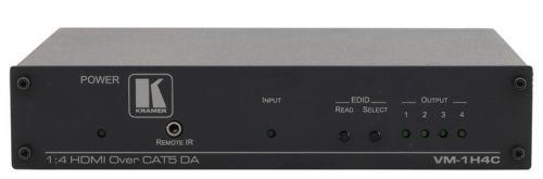 Передатчик Kramer VM-1H4C 50-70958190 HDMI, RS-232 и ИК-сигналов по витой паре DGKat с 4 выходами
