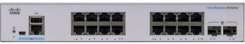 Коммутатор Cisco SB CBS350-16P-E-2G-EU CBS350 Managed 16-port GE, PoE, Ext PS, 2x1G SFP