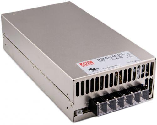 Преобразователь AC-DC сетевой Mean Well SE-600-12 вых: 600 Вт; Выход: 12 В; U1: 12 В; Стабилизация: напряжение; Вход: 110/220В ручной; Конструктив: в