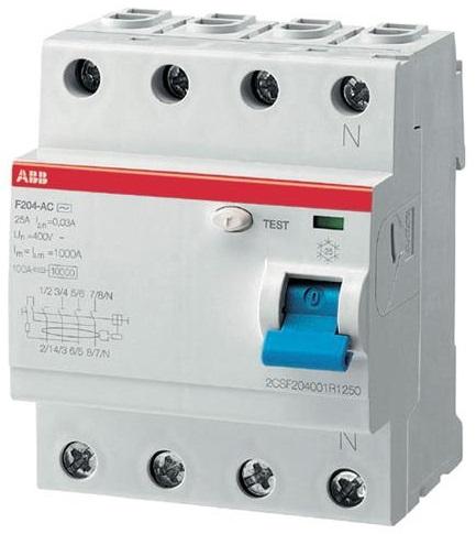 УЗО ABB 2CSF204001R2900 F204AC 4Р 100А 100mA (AC)