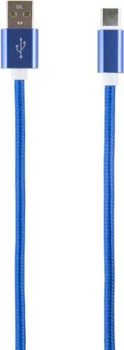 Кабель интерфейсный Red Line USB-Type-C УТ000014159 2 м нейлоновая оплетка, синий кабель интерфейсный red line usb micro usb ут000014162 2 м нейлоновая оплетка золотой