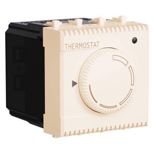 Термостат DKC 4405162 модульный для теплых полов, ванильная дымка, 2 модуля,