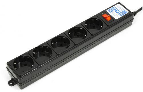Фото - Сетевой фильтр Power Cube SPG-B-0,5M-BLACK 0,5 м 5 розеток (черный) 10А/2,2кВт сетевой фильтр power cube spg b 10 5 розеток 3 м белый
