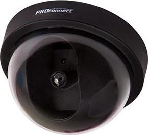 Муляж камеры видеонаблюдения PROCONNECT 45-0220 Неотличим от обычной камеры. Мигающий красный светодиод (каждые 5 секунд). Питание: батарейки AА - 2шт