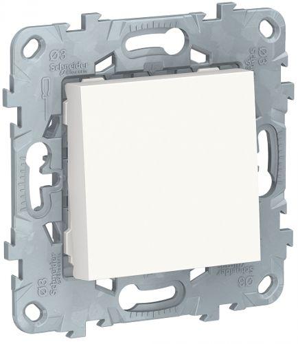 Фото - Выключатель Schneider Electric NU520118 UnicaNew, белый, 1-клавишный, сх. 1, 10 AX, 250В выключатель schneider electric nu520118 unicanew белый 1 клавишный сх 1 10 ax 250в